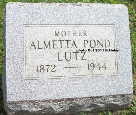 LUTZ, ALMETTA - Champaign County, Ohio | ALMETTA LUTZ - Ohio Gravestone Photos