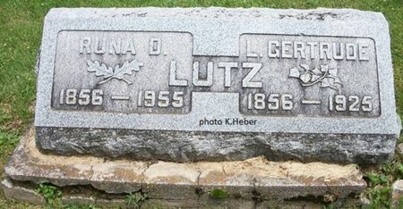 LUTZ, LUCINDA GERTRUDE - Champaign County, Ohio | LUCINDA GERTRUDE LUTZ - Ohio Gravestone Photos