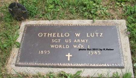 LUTZ, OTHELLO W - Champaign County, Ohio | OTHELLO W LUTZ - Ohio Gravestone Photos