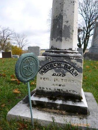 REAM, ANDREW - Champaign County, Ohio | ANDREW REAM - Ohio Gravestone Photos