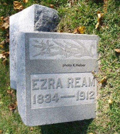 REAM, EZRA - Champaign County, Ohio   EZRA REAM - Ohio Gravestone Photos