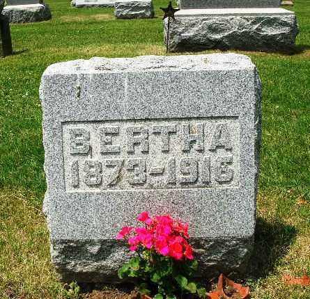 ROMINE ROMINE, BERTHA - Champaign County, Ohio   BERTHA ROMINE ROMINE - Ohio Gravestone Photos