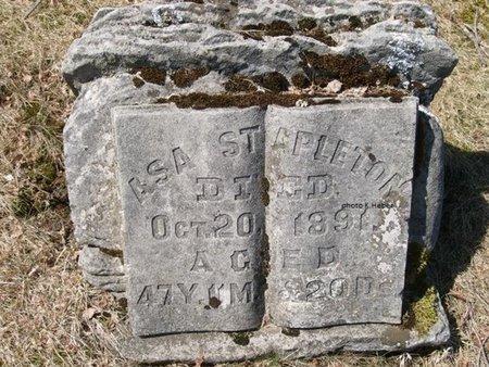 STAPLETON, ASA - Champaign County, Ohio   ASA STAPLETON - Ohio Gravestone Photos