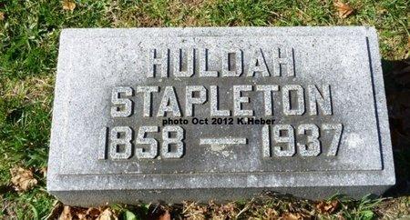 STAPLETON, HULDAH ANNETTA - Champaign County, Ohio | HULDAH ANNETTA STAPLETON - Ohio Gravestone Photos