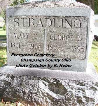 STRADLING, GEORGE B - Champaign County, Ohio | GEORGE B STRADLING - Ohio Gravestone Photos