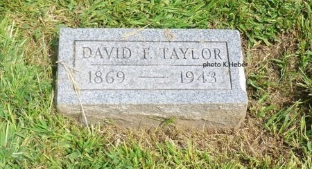 TAYLOR, DAVID F - Champaign County, Ohio   DAVID F TAYLOR - Ohio Gravestone Photos