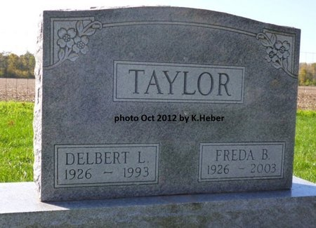 """TAYLOR, FREDA BEULAH """"BOOTS"""" - Champaign County, Ohio 