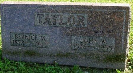 TAYLOR, JOHN W - Champaign County, Ohio | JOHN W TAYLOR - Ohio Gravestone Photos