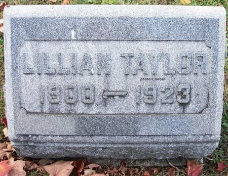 TAYLOR, LILLIAN B - Champaign County, Ohio   LILLIAN B TAYLOR - Ohio Gravestone Photos