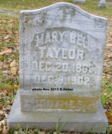 TAYLOR, MARY BELLE - Champaign County, Ohio   MARY BELLE TAYLOR - Ohio Gravestone Photos