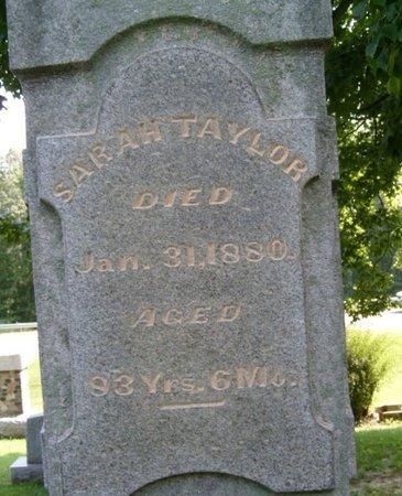 TAYLOR, SARAH - Champaign County, Ohio | SARAH TAYLOR - Ohio Gravestone Photos
