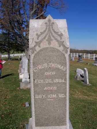 THOMAS, CYRUS - Champaign County, Ohio   CYRUS THOMAS - Ohio Gravestone Photos