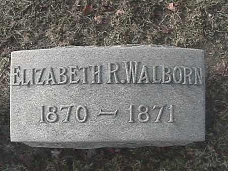 WALBORN, ELIZABETH R. - Champaign County, Ohio   ELIZABETH R. WALBORN - Ohio Gravestone Photos