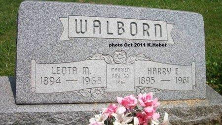 WALBORN, LEOTA MAY - Champaign County, Ohio | LEOTA MAY WALBORN - Ohio Gravestone Photos