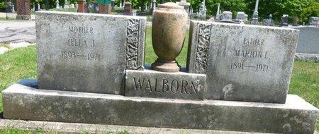 WALBORN, ZELLA JANE - Champaign County, Ohio | ZELLA JANE WALBORN - Ohio Gravestone Photos