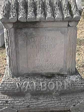 WALBORN, MARY JANE - Champaign County, Ohio | MARY JANE WALBORN - Ohio Gravestone Photos