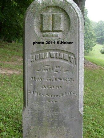 WIANT, JOHN - Champaign County, Ohio   JOHN WIANT - Ohio Gravestone Photos