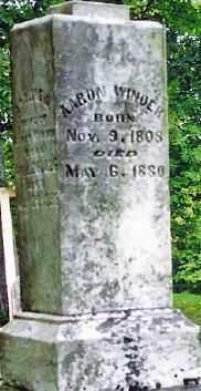WINDER, AARON - Champaign County, Ohio   AARON WINDER - Ohio Gravestone Photos