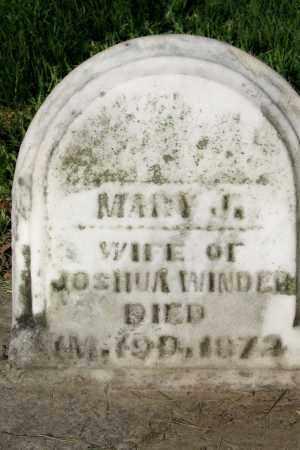 WINDER, MARY - Champaign County, Ohio | MARY WINDER - Ohio Gravestone Photos