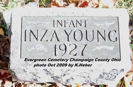 YOUNG, INZA LOUISE - Champaign County, Ohio | INZA LOUISE YOUNG - Ohio Gravestone Photos