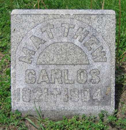 CARLOS, MATTHEW - Clark County, Ohio | MATTHEW CARLOS - Ohio Gravestone Photos