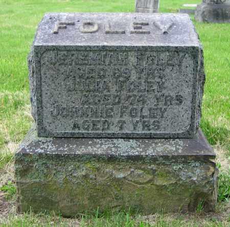FOLEY, JULIA - Clark County, Ohio | JULIA FOLEY - Ohio Gravestone Photos