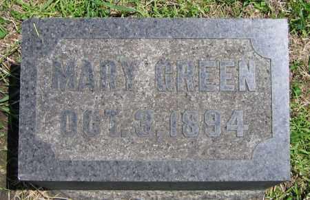 GREEN, MARY - Clark County, Ohio | MARY GREEN - Ohio Gravestone Photos
