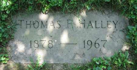 HALLEY, THOMAS F. - Clark County, Ohio | THOMAS F. HALLEY - Ohio Gravestone Photos