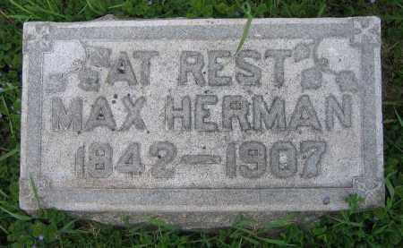 HERMAN, MAX - Clark County, Ohio | MAX HERMAN - Ohio Gravestone Photos