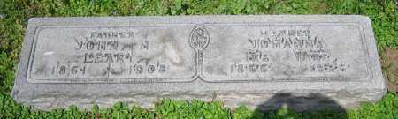 LEARY, JOHANNA - Clark County, Ohio | JOHANNA LEARY - Ohio Gravestone Photos