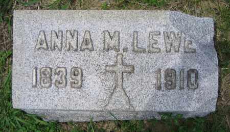LEWE, ANNA M. - Clark County, Ohio | ANNA M. LEWE - Ohio Gravestone Photos