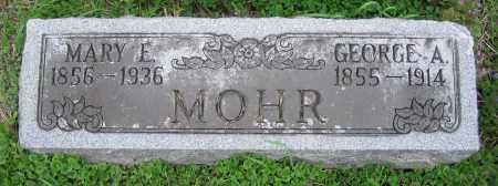 MOHR, MARY E. - Clark County, Ohio | MARY E. MOHR - Ohio Gravestone Photos