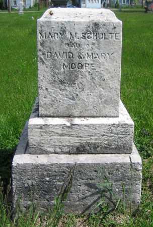 MOORE SCHULTE, MARY M. - Clark County, Ohio | MARY M. MOORE SCHULTE - Ohio Gravestone Photos