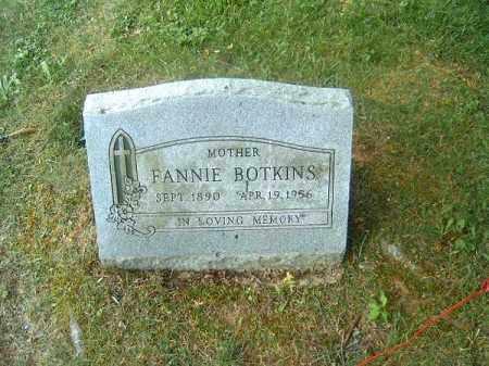 BOTKINS, FANNIE - Clermont County, Ohio | FANNIE BOTKINS - Ohio Gravestone Photos