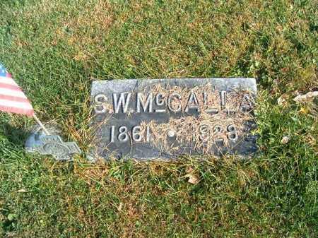 MCCALLA, S  W - Clermont County, Ohio | S  W MCCALLA - Ohio Gravestone Photos