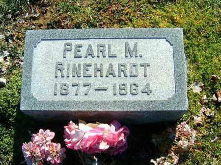 RINEHARDT, PEARL  M - Clermont County, Ohio   PEARL  M RINEHARDT - Ohio Gravestone Photos