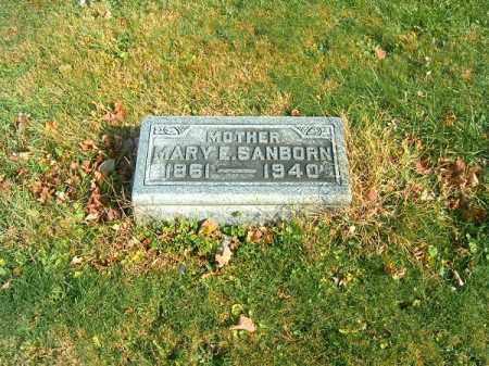 SANBORN, MARY  E - Clermont County, Ohio | MARY  E SANBORN - Ohio Gravestone Photos