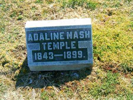 NASH TEMPLE, ADALINE - Clermont County, Ohio | ADALINE NASH TEMPLE - Ohio Gravestone Photos