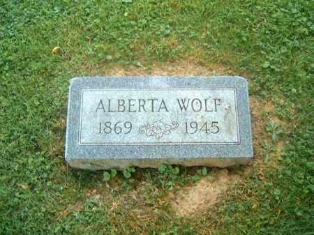 WOLF, ALBERTA - Clermont County, Ohio | ALBERTA WOLF - Ohio Gravestone Photos