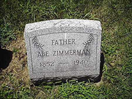 ZIMMERMAN, ABE - Clermont County, Ohio   ABE ZIMMERMAN - Ohio Gravestone Photos