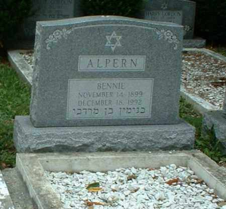 ALPERN, BENNIE - Columbiana County, Ohio | BENNIE ALPERN - Ohio Gravestone Photos