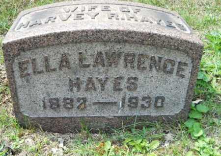 HAYES, ELLA - Columbiana County, Ohio | ELLA HAYES - Ohio Gravestone Photos