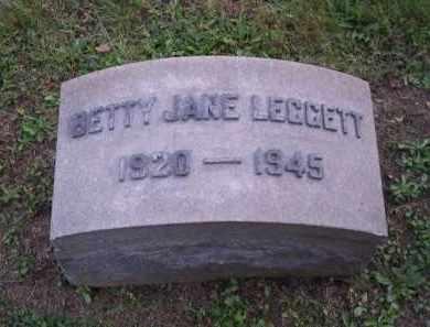 LEGGETT, BETTY JANE - Columbiana County, Ohio   BETTY JANE LEGGETT - Ohio Gravestone Photos