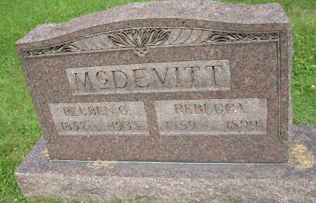 MCDEVITT, REUBEN C - Columbiana County, Ohio | REUBEN C MCDEVITT - Ohio Gravestone Photos