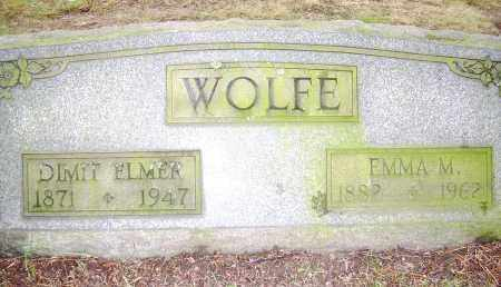 WOLFE, DIMIT ELMER - Columbiana County, Ohio | DIMIT ELMER WOLFE - Ohio Gravestone Photos