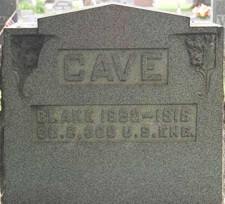 CAVE, BLAKE - Coshocton County, Ohio   BLAKE CAVE - Ohio Gravestone Photos