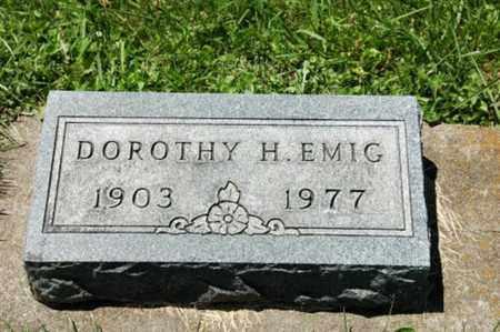 EMIG, DOROTHY H. - Coshocton County, Ohio | DOROTHY H. EMIG - Ohio Gravestone Photos