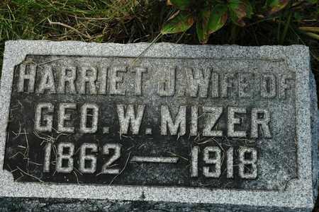 MIZER, HARRIET J. - Coshocton County, Ohio | HARRIET J. MIZER - Ohio Gravestone Photos