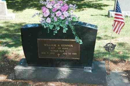 RENNER, WILLIAM A. - Coshocton County, Ohio | WILLIAM A. RENNER - Ohio Gravestone Photos