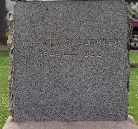 CAVE SLAUGHTER, MAHALA - Coshocton County, Ohio   MAHALA CAVE SLAUGHTER - Ohio Gravestone Photos